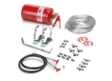Sparco 014772MSL extinguishing system manually activated, steel tank, 4,25 l