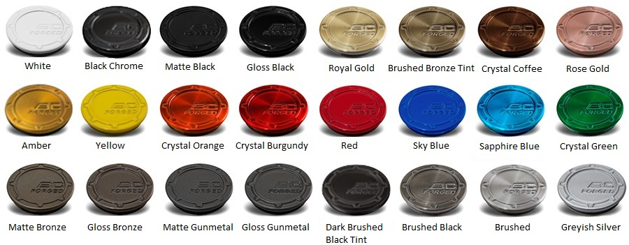 Color and type finishes BC Forged